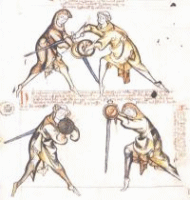 Illustration aus dem Tower Fechtbuch (I.33.)